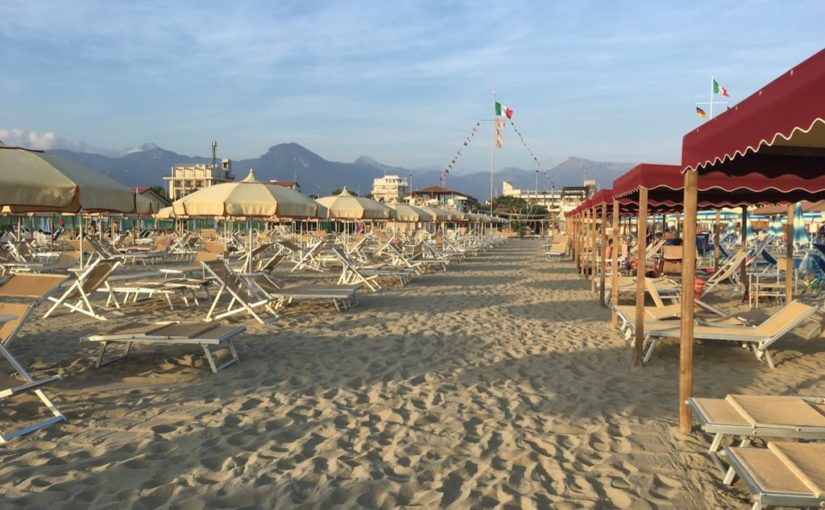 A day at the beach in Versilia