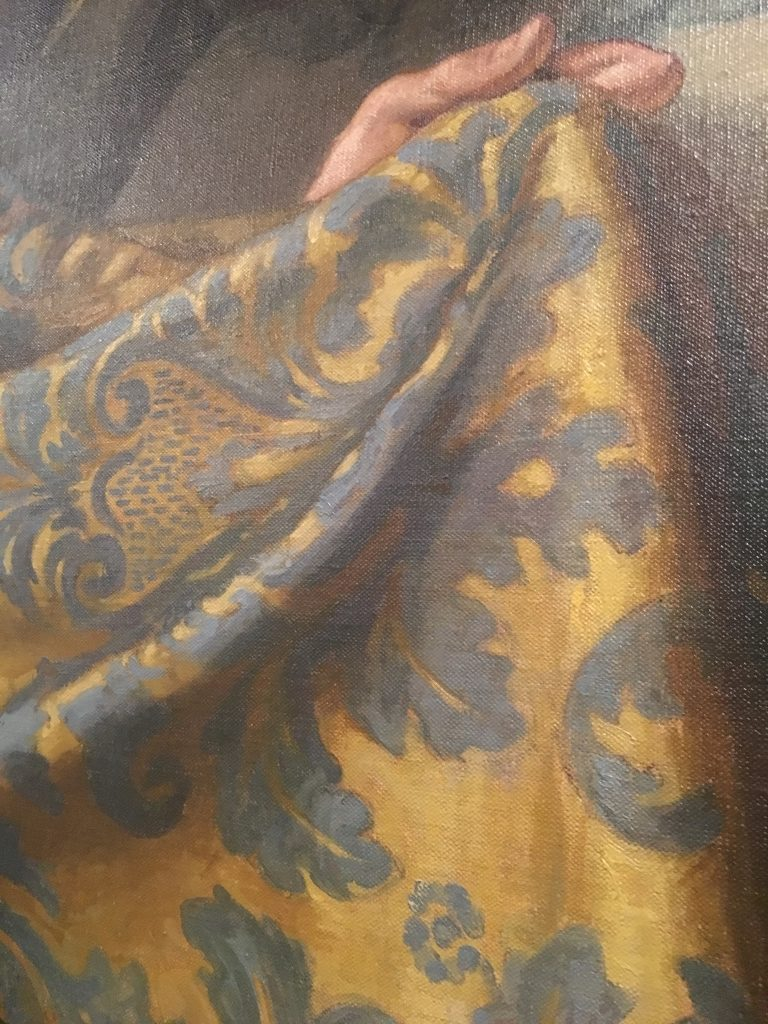 a piece of Lucchese silk