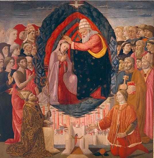 """""""The Coronation of the Virgin Mary"""" inside the church of Saint Paolino in Lucca"""